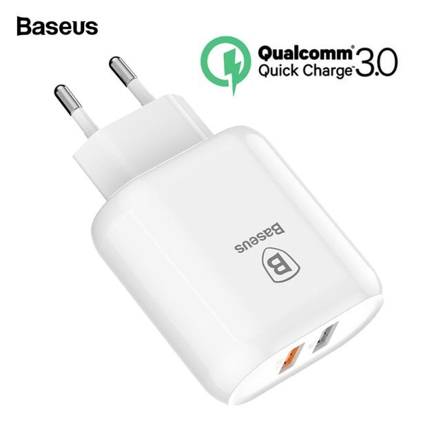 Baseus 23w Quick Charge 3 0 Usb Charger For Iphone Samsung Xiaomi Qc3 0 5v 3a Fast Charging Eu Travel Wall Mobile Phone Charger Revie Usb Chargers Dual Usb Usb