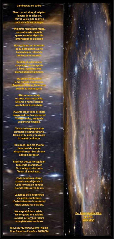 Zamba para mi padre - Jorge M. Benítez-música- Y Nieves Merino Guerra - Letra - - Encontro de Poetas e Amigos
