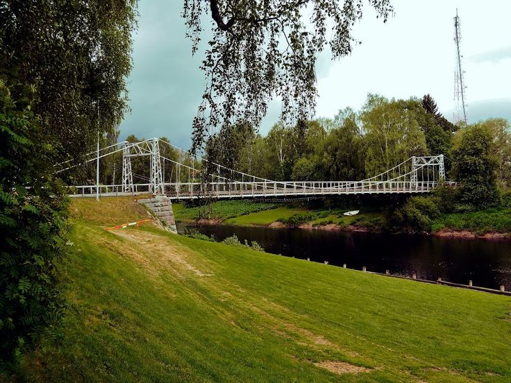 Ilkantie street suspension bridge, Ilmajoki Finland.