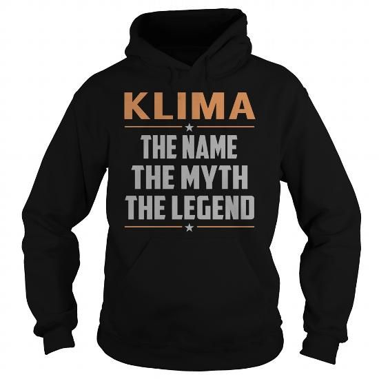 I Love KLIMA The Myth, Legend - Last Name, Surname T-Shirt T shirts