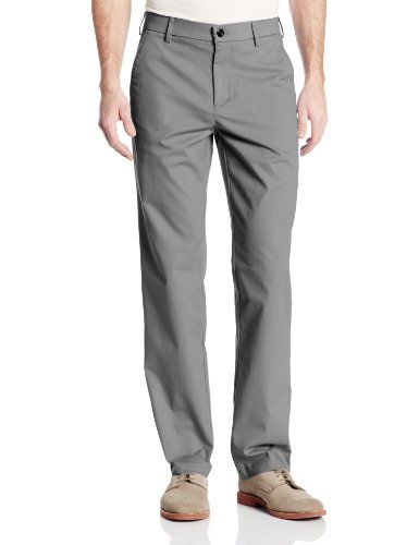 Black Friday Haggar Men's Performance Cotton Slack Straight Fit Plain Front Pant,Grey,34Wx32L from Haggar Cyber Monday