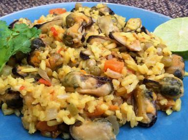 Aprende ésta sencilla receta de Arroz con Mejillones.: Arroz con Mejillones