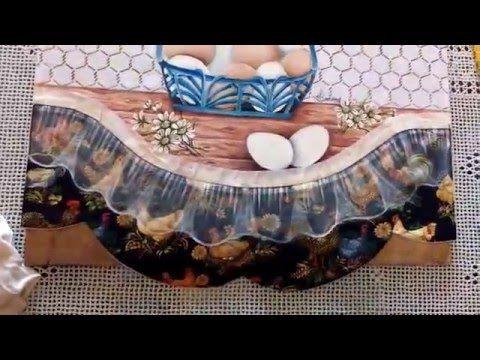 Videoaula de Pintura em Tecido - Falso Barrado com Transparência