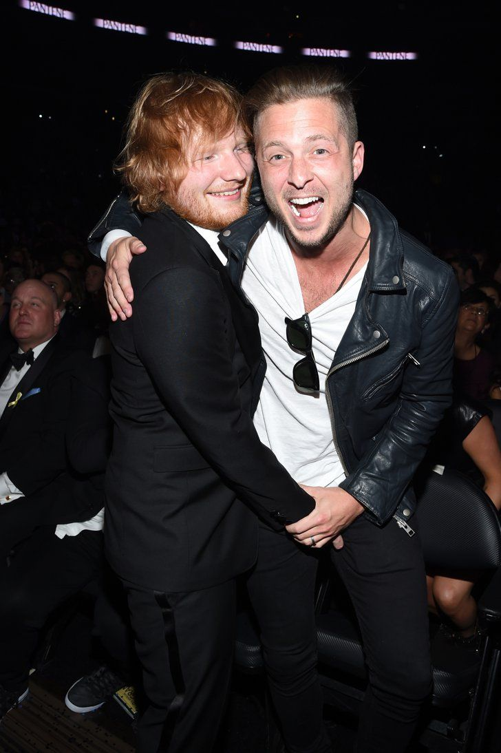 Pin for Later: 39 Grammys Moments You May Have Missed  Pictured: Ryan Tedder and Ed Sheeran