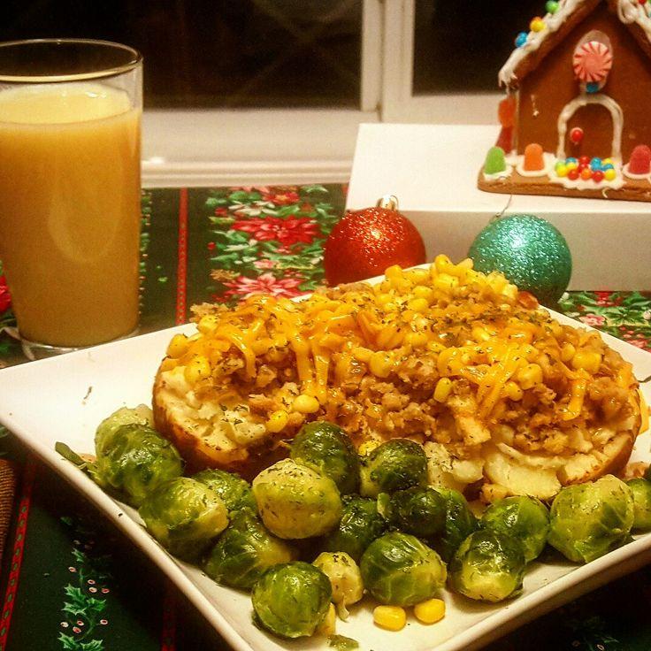 Double Stuffed Christmas Potato! #coveredincheese #handmadewithlove