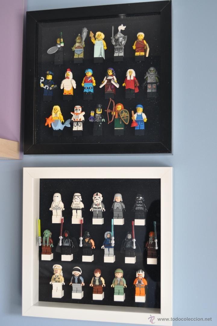 Juegos construcción - Lego: Cuadro Expositor para minifigura LEGO, para poner tus minifiguras de series, serie, star wars - Foto 4 - 41555550