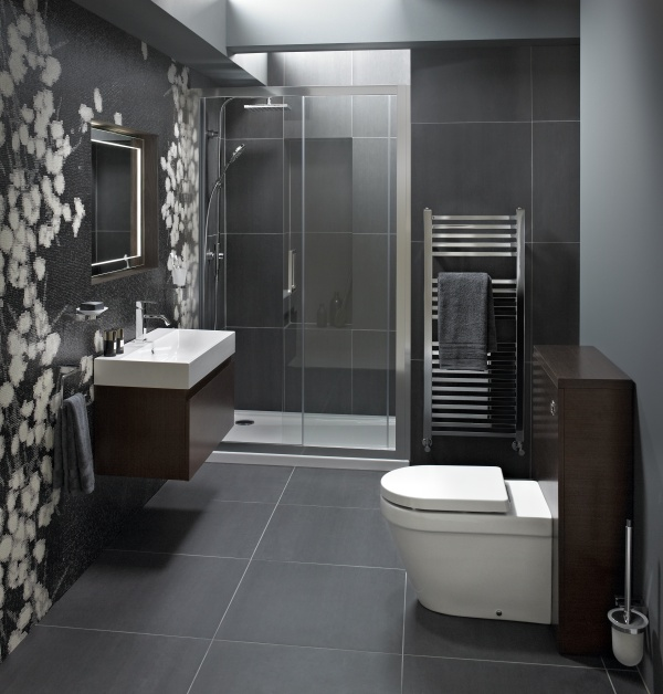 Bathroom Ideas Gray Tile 18 best bathroom ideas images on pinterest | bathroom ideas, home