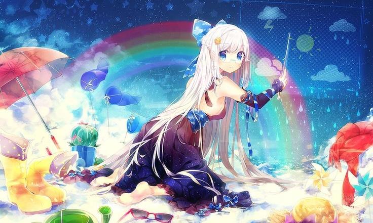 rainbow girl Anime! Pinterest