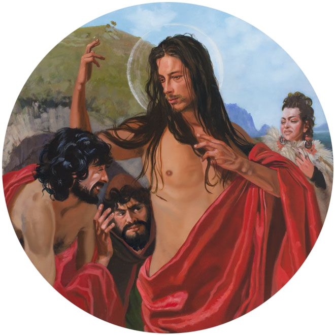 André Durand DOUBTING THOMAS WITH CIRCE & ULYSSES 2013 (Ø 100)