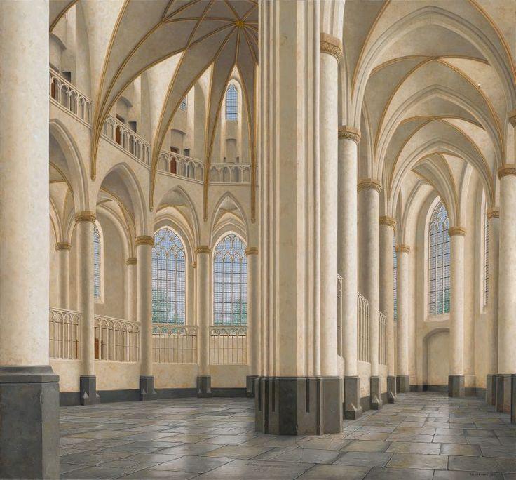 Interior of the Great Church in Harderwijk - Maarten 't Hart (City Museum Harderwijk)