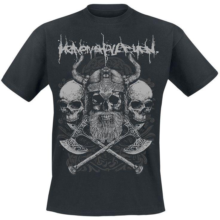 "Classica T-Shirt uomo nera ""Axes"" degli #HeavenShallBurn."