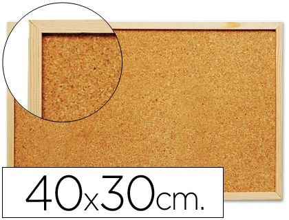 Tablero de corcho de 40 x 30 cm. ¡Más barato imposible!
