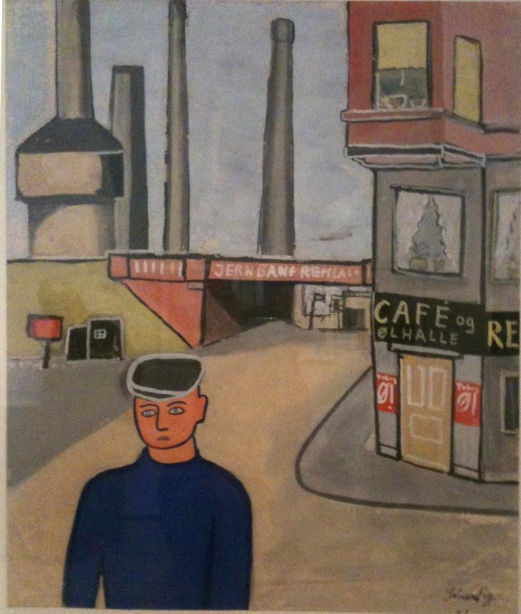 Danish-born artist Hans Scherfig #Dansk #Kunst #Danish #Art
