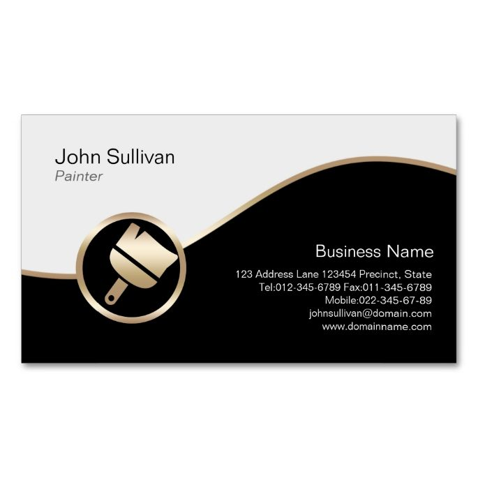1978 best handyman business cards images on pinterest business painter business card gold paint brush icon colourmoves