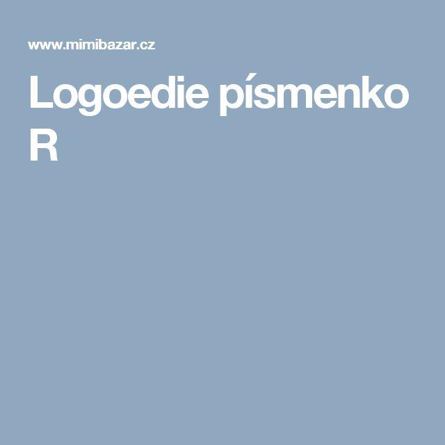 Logoedie písmenko R