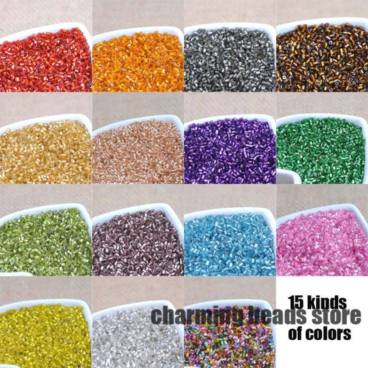 15 colors 2x3mm 1000pcs SILVER LINED Czech Glass Seed Spacer Tube beads For Clothing decoration DIY BLGZGY01X-in Garment Beads from Home & Garden on Aliexpress.com | Alibaba Group
