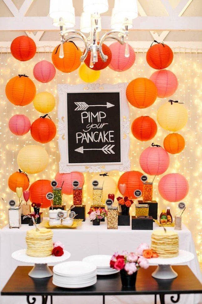brunch decorating ideas mother's day thinking of brunch wedding then you need diy pancake bar wedding from brit co in 2018 pinterest brunch wedding and bar