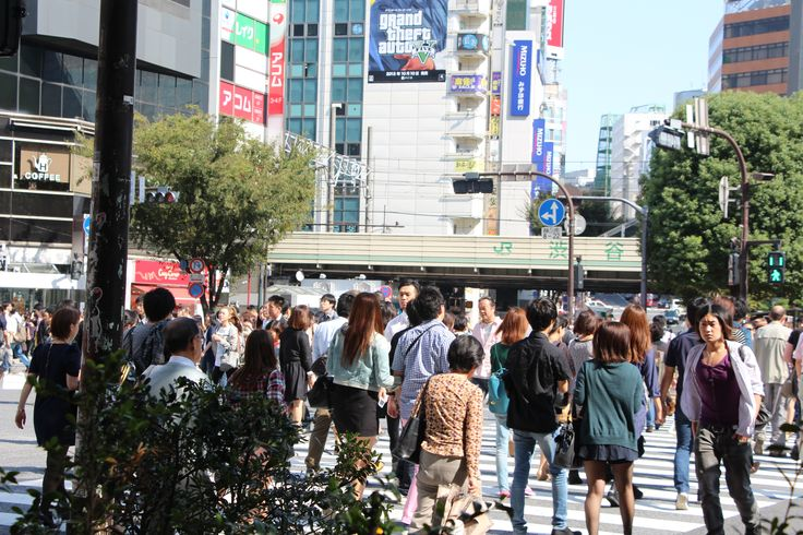 crowded street in Tokyo...