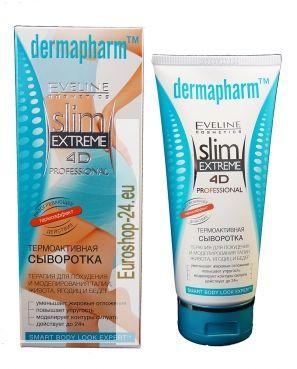 DERMAPHARM ™ - Thermo Serum, 200ml  EFFECT 4D Modelierung von Taille, Bauch, Gesäß und Oberschenkel  1. reduziert Körperfett 2. erhöht die Flexibilität der Haut 3. simuliert die Konturen der Silhouette 4. aktiv bis zu 24h  Thermo-aktive Serum für den Körper - es ist ein innovatives Produkt für die Körperpflege- Produkte basieren auf der Technologie der Fettabsaugung.