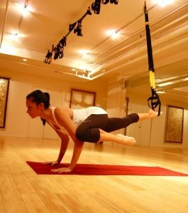 TRX + yoga = best of both worlds.  I have done something similar to this.... This is a great workout!!