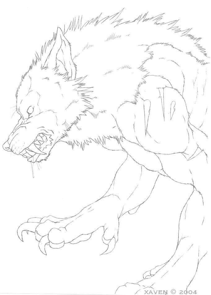 картинки как нарисовать оборотня карандашом желаю этот