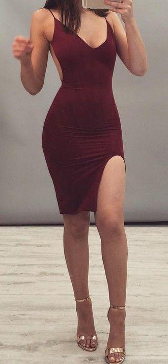 Oxblood Bodycon Dress