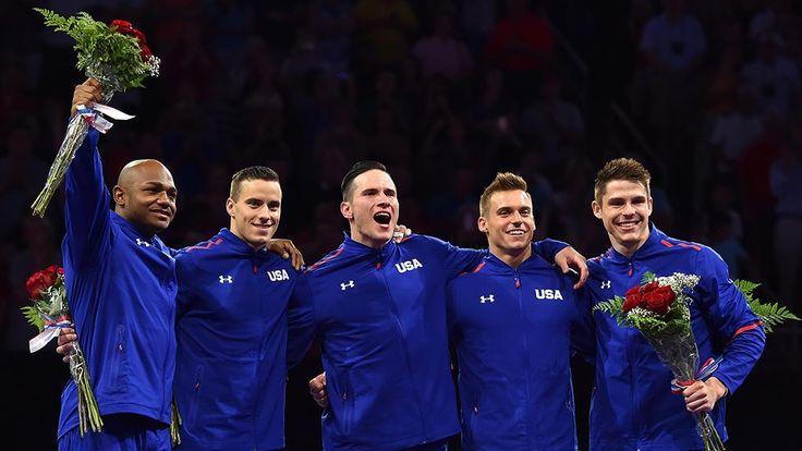 Sam Mikulak, Jake Dalton, John Orozco, Alex Naddour and Chris Brooks were named to the U.S. men's Olympic gymnastics team.