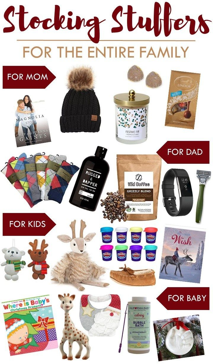 Stocking Stuffers For The Entire Family Sugar Maple Notes Mom Blogger Pinterest Christmas Gifts And