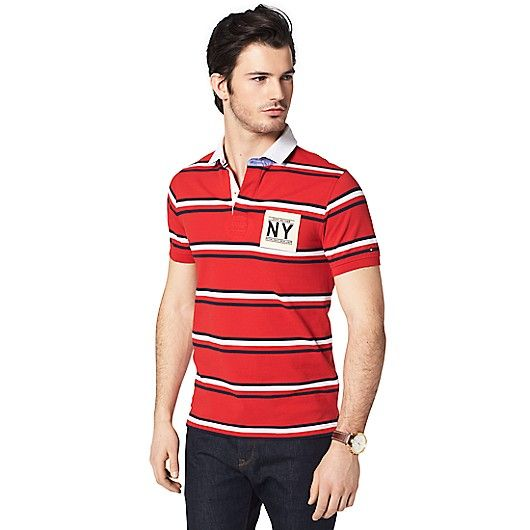Image for SLIM FIT NY STRIPE POLO from Tommy Hilfiger