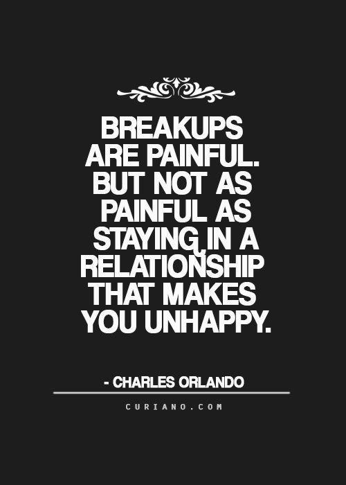 Een relatie verbreken is pijnlijk. Maar niet zo erg als in een relatie blijven waarin je ongelukkig bent.