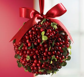 Boxwood And Berry Kissing Ball