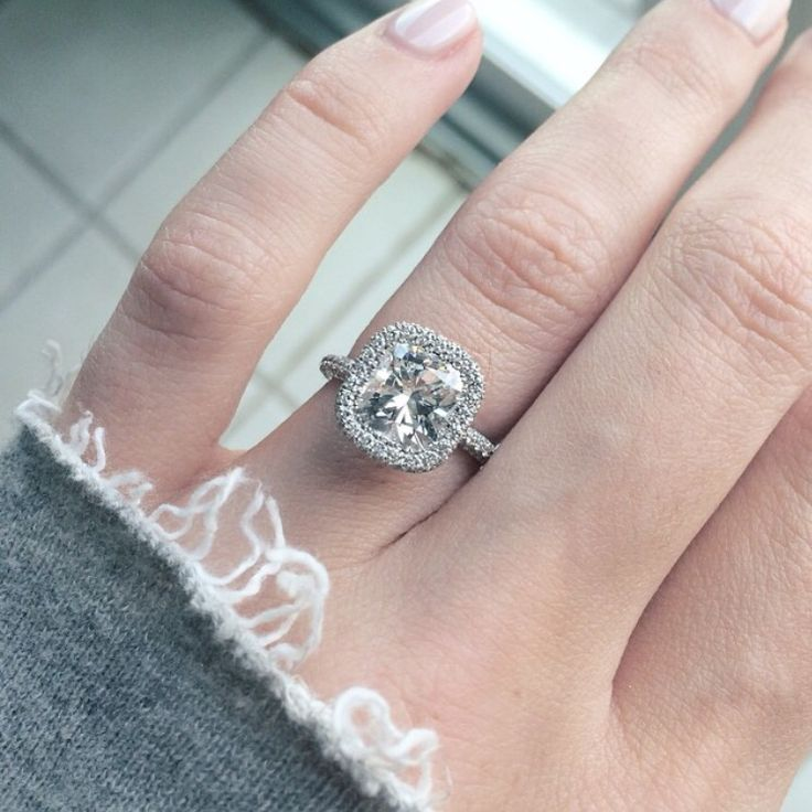 My dream ring! Designed by Jean Dousset Elle Fowler's cushion cut engagement ring.