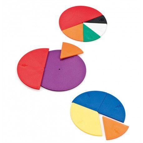 KIT D'ACTIVITÉ FRACTIONS HT1299 Produit standard Ce jeu de manipulation permet de mieux comprendre ce qu'est une fraction et ses équivalences de valeurs à travers de multiples activités et résolutions de problèmes. Apporte une approche concrète à une notion abstraite souvent difficilement compréhensible. Notice pédagogique. 60 pièces en plastiques. Dim. 10 cm. Dès 7 ans.