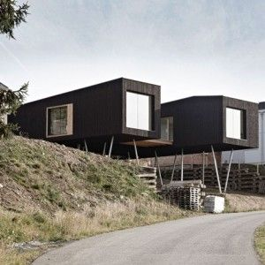 17 best images about modular house on pinterest villas for Hillside elevator kit