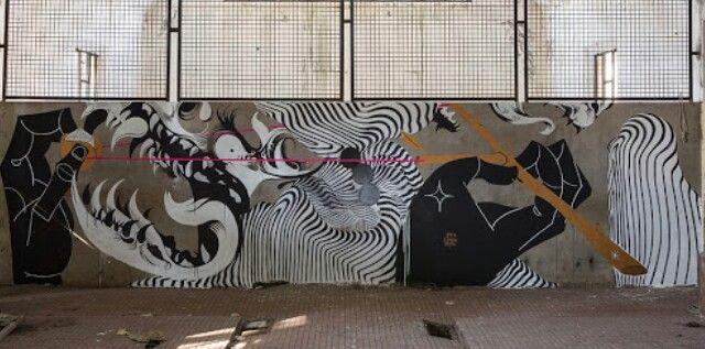 2501 x Basik x Zamoc New Mural In Rimini, Italy