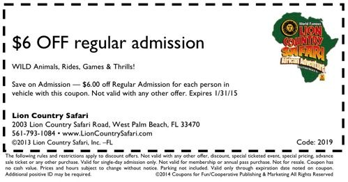 Lion Country Safari Coupon West Palm Beach Florida Stuff To Do In South With Coupons Pinterest And