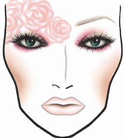 MAC Rose Romance Face Chart