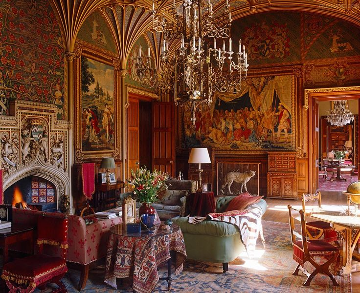 A Late Georgian Drawing Room In Eastnor Castle With