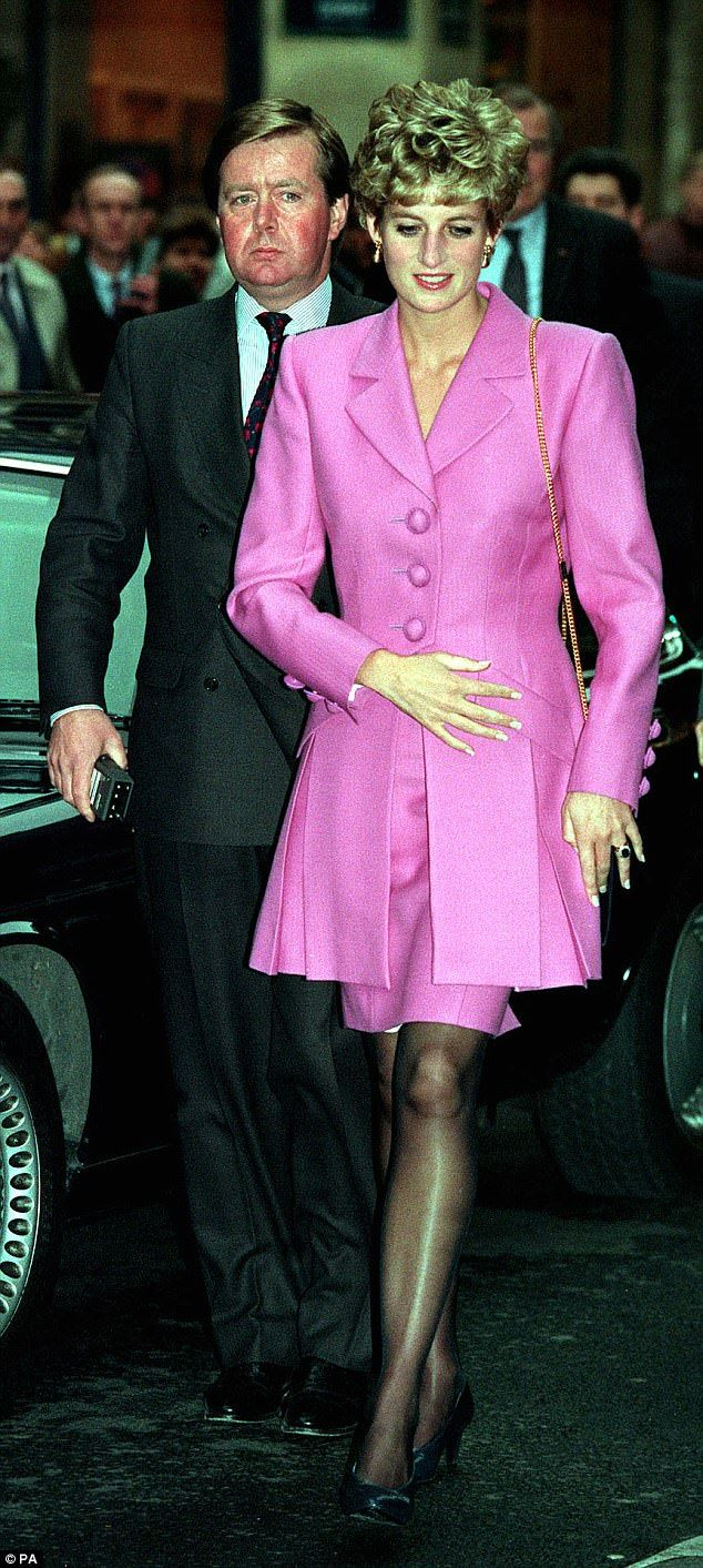 The late Diana, Princess of Wales, arriving at an Aids Information kiosk in Paris with her bodyguard Inspector Ken Wharfe in 1992