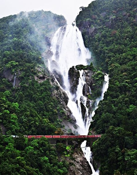 Impressive Waterfall Found in Goa - India