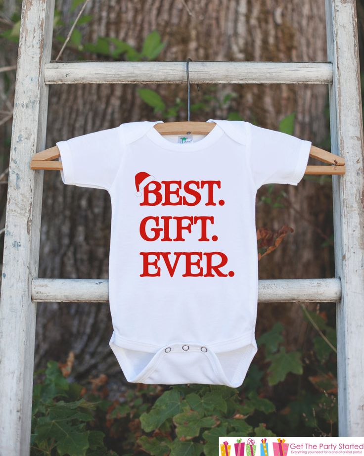 Best Gift Ever Christmas Outfit - Christmas Onepiece - Pregnancy Announcement - Baby Holiday Outfit - Newborn Christmas Gift for Boy or Girl