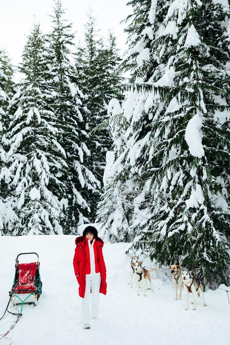 red coat apres ski | Jenny of Margo and Me