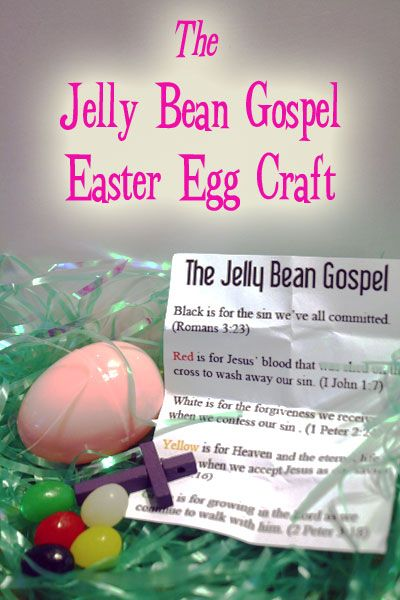 Easter Craft Jelly Bean Gospel - Use colors to tell the story of Salvation.