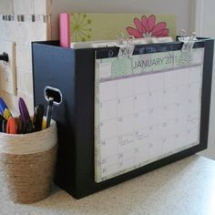 Calendar and important files organizer. Folders for copy, grade, laminate, etc