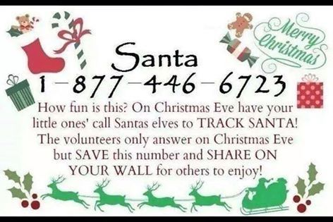 Santa Phone Number kids christmas santa christmas quotes christmas eve