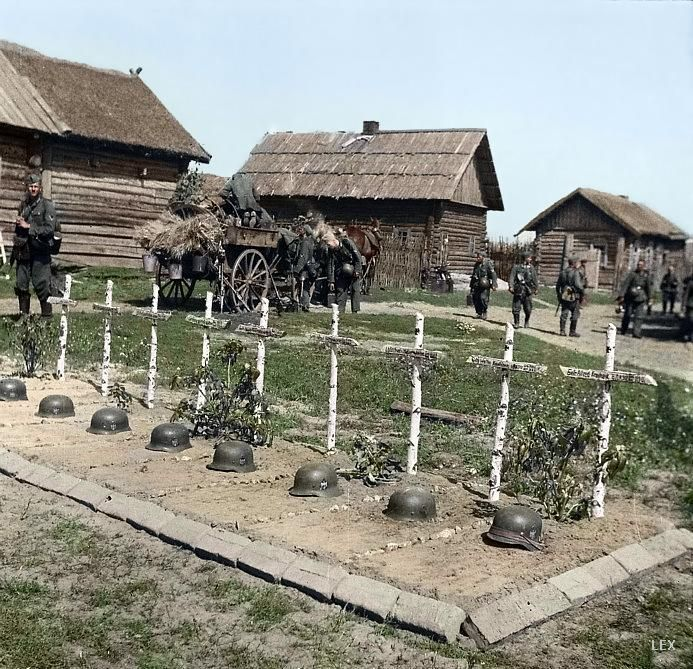 A cemetery of German soldier killed during the operation Barbarossa