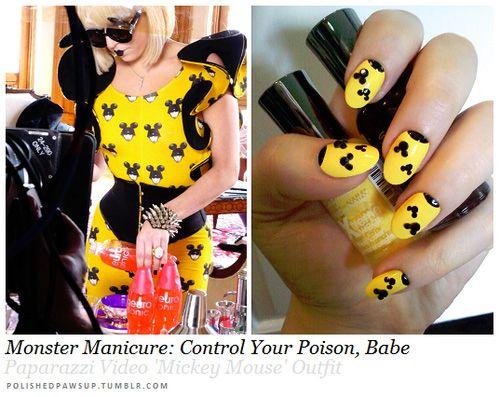"Lady Gaga ""Paparazzi"" inspired nails"