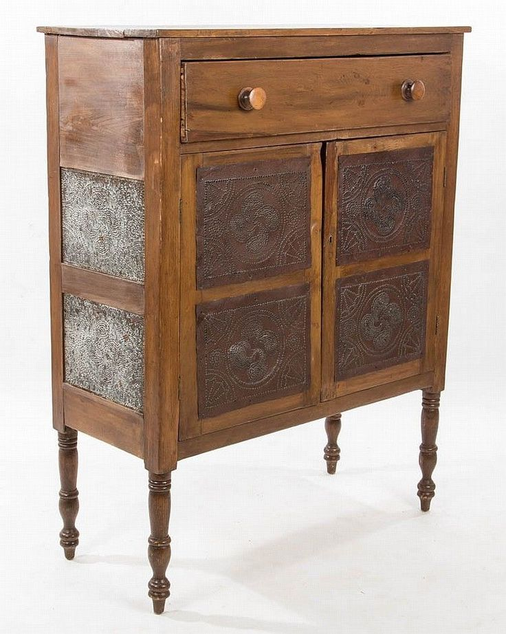 SOUTHERN, PROBABLY VIRGINIA OR NORTH CAROLINA, PUNCHED-TIN-PANELLED P..  Antique DecorAntique FurnitureAmish ... - 885 Best Antique Furniture Images On Pinterest Beautiful, Cherry