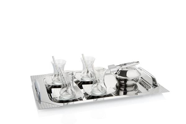 Pierre Cardin 40 Parça Estella Silver Tepsili Set | cazip geldi