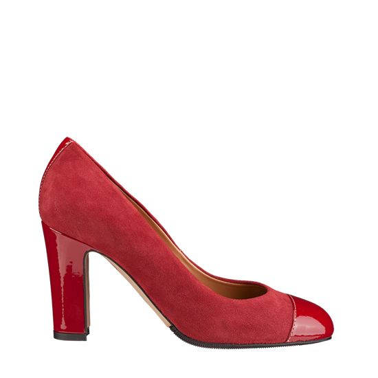 patent leather and suede leather, soles gomma tunith, 85mm heel, shoes Dress camoscio + Vernice 4024 rosso, shoes, pumps